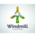 Windmill logo template vector image vector image