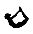 yoga pose bow dhanurasana vector image vector image