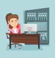 young caucasian employee relaxing in office vector image vector image