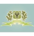 Green shield with eagle vector image