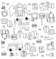Doodle of collection school education vector image