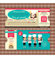 Ticket Birthday card party Invitation Template vector image