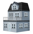 3d design for gray house vector image vector image