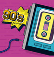 90s retro card design vector image vector image