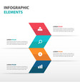 abstract arrow business infographics elements vector image vector image