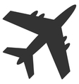 Aircraft Flat Icon vector image vector image