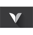 alphabet letter v long shadow logo icon design