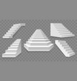 architectural white staircases vector image vector image