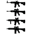 Automatic guns vector image vector image