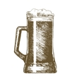 Beer Mug Hand Draw Sketch vector image
