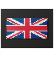 British flag consisting of 3d cubes vector image