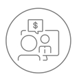 Business video negotiations line icon vector image vector image