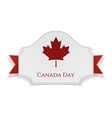 Canada Day Holiday Banner with Ribbon vector image vector image