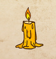 Candle Cartoon vector image