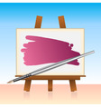 canvas board and color brush vector image