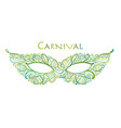 carnival venetian mask ornamental for your design vector image
