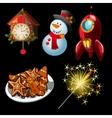 cartoon set holiday symbols and entertainment vector image vector image
