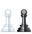 chess pawns vector image vector image
