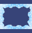 christmas border blue white waved frame covered vector image vector image