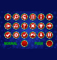 christmas circle buttons for web and 2d games ui vector image