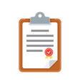 clipboard document icon vector image vector image