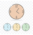 clock icon with different color vector image vector image