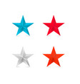 coloder 3d stars red star blue silver bronze vector image vector image