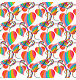 colorful striped love hearts seamless pattern vector image