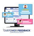 customer review desktop pc display on vector image