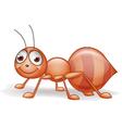 Cute Smile Ant Cartoon vector image vector image
