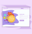deadline flat landing web page vector image