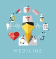 digital blue red nurse pharmacy vector image vector image