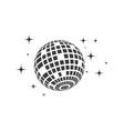 disco ball icon vector image vector image