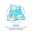 email turquoise concept icon vector image vector image