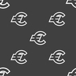 Euro EUR icon sign Seamless pattern on a gray vector image vector image