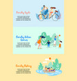 family cycle active games family fishing vector image