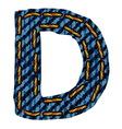 Farmerke tekstura slovo D vector image