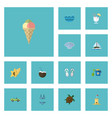 flat icons shell sea conch and other vector image vector image