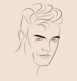 hand drawn portrait handsome man vector image vector image