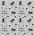 happy birthday pattern background with dark color vector image vector image
