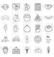 Hash house icons set outline style