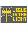 jesus is the light vector image