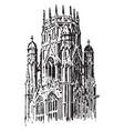 lantern tower at st ouen rouen france vintage vector image vector image