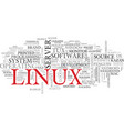 linux word cloud concept vector image vector image