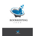 logo bookkeeping concept vector image