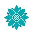 lotus flower glyph color icon vector image