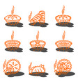 meat pie roll quiche vector image vector image