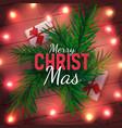 merry christmas festive greeting card vector image