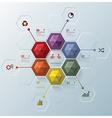 Modern Hexagon Business Infographic Design vector image vector image