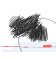 mood modern art abstraction black scribbles vector image